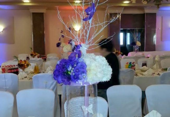 Dekoracja na stoły gości.