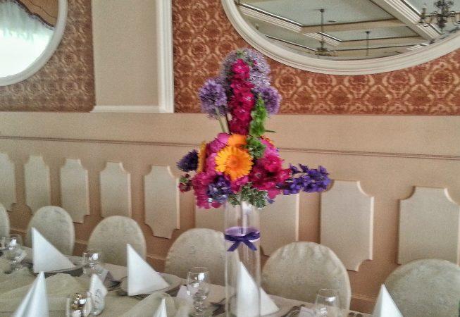 Dekoracja sali weselnej.